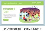 country fair landing page... | Shutterstock .eps vector #1452453044