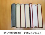 stack of books in library | Shutterstock . vector #1452464114