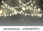 christmas lights isolated on... | Shutterstock .eps vector #1452469571