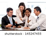 business group working together ... | Shutterstock . vector #145247455