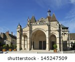 Church called Notre Dame de Beaune in the town Beaune in Burgundy,France - stock photo