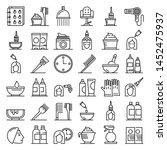 hair dye icons set. outline set ... | Shutterstock .eps vector #1452475937