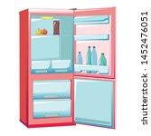 half empty fridge icon. cartoon ... | Shutterstock .eps vector #1452476051