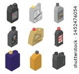 motor oil icons set. isometric...   Shutterstock .eps vector #1452476054