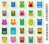 backpack icons set. flat set of ... | Shutterstock .eps vector #1452480047