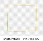 gold shiny glowing frame with... | Shutterstock .eps vector #1452481427