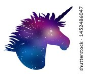 unicorn. silhouette of head... | Shutterstock .eps vector #1452486047