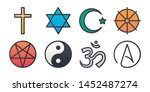 religion collection color line... | Shutterstock .eps vector #1452487274