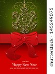 card with christmas  | Shutterstock . vector #145249075