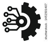 gear smart ai icon. simple... | Shutterstock .eps vector #1452501407