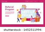 referral program landing page...