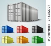 vector shipping containers | Shutterstock .eps vector #145252774