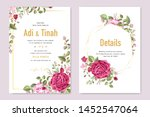 wedding invitation card with... | Shutterstock .eps vector #1452547064