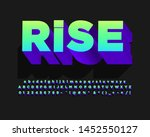 rise sticker alphabet design ... | Shutterstock .eps vector #1452550127