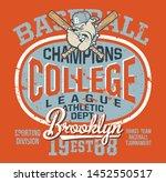college baseball bulldog junior ... | Shutterstock .eps vector #1452550517