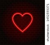 neon heart retro. valentine's... | Shutterstock .eps vector #1452555371