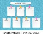 template school timetable for... | Shutterstock .eps vector #1452577061