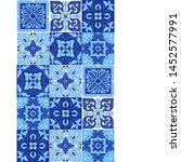 italian ceramic tile pattern.... | Shutterstock .eps vector #1452577991
