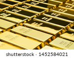 Stock photo gold bars background financial concepts 1452584021