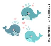 cartoon whale vector... | Shutterstock .eps vector #1452586121