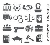 law icons set on white... | Shutterstock . vector #1452588131