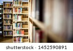 blurred background. library ... | Shutterstock . vector #1452590891