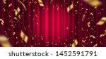 spotlight on red curtain... | Shutterstock .eps vector #1452591791
