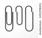 realistic black paper clip... | Shutterstock .eps vector #1452598241