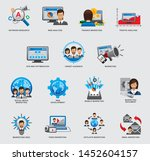set of business and strategy... | Shutterstock .eps vector #1452604157