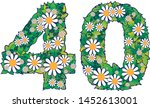 number forty written with... | Shutterstock .eps vector #1452613001