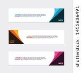 modern style of web banner... | Shutterstock .eps vector #1452636491