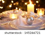Table Setting With Christmas...