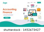 flat design accounting fiance... | Shutterstock .eps vector #1452673427