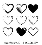 hearts icons over white... | Shutterstock .eps vector #145268089