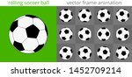 rolling or flying soccer ball.... | Shutterstock .eps vector #1452709214