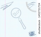 magnifying glass and check mark ... | Shutterstock .eps vector #1452721724