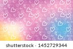 love card vector. illustration... | Shutterstock .eps vector #1452729344