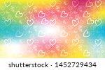 love card vector. illustration... | Shutterstock .eps vector #1452729434