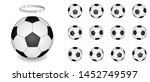 rotating soccer ball. vector... | Shutterstock .eps vector #1452749597