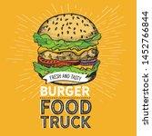 burger illustration for...   Shutterstock .eps vector #1452766844
