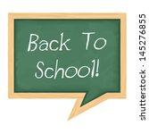 blackboard shaped as speech... | Shutterstock .eps vector #145276855