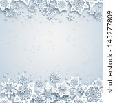 abstract winter background with ... | Shutterstock .eps vector #145277809