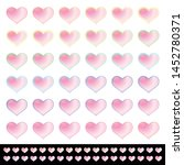 hearts set with a light pink... | Shutterstock .eps vector #1452780371