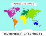 vector map of world....   Shutterstock .eps vector #1452788351