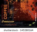 coffee background | Shutterstock .eps vector #145280164