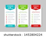 comparison pricing list. price... | Shutterstock .eps vector #1452804224