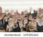 Closeup Of Business Crowd...