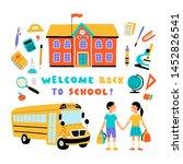 welcome back to school  cute...   Shutterstock .eps vector #1452826541