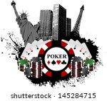 Stock vector las vegas poker 145284715
