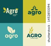 set of signs for agriculture... | Shutterstock .eps vector #1452853394